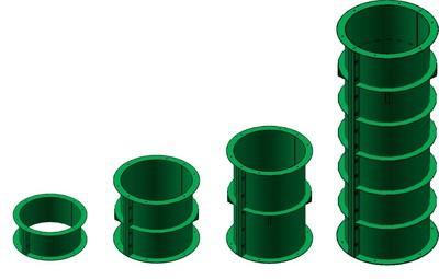 Опалубка для круглых колонн FARESIN